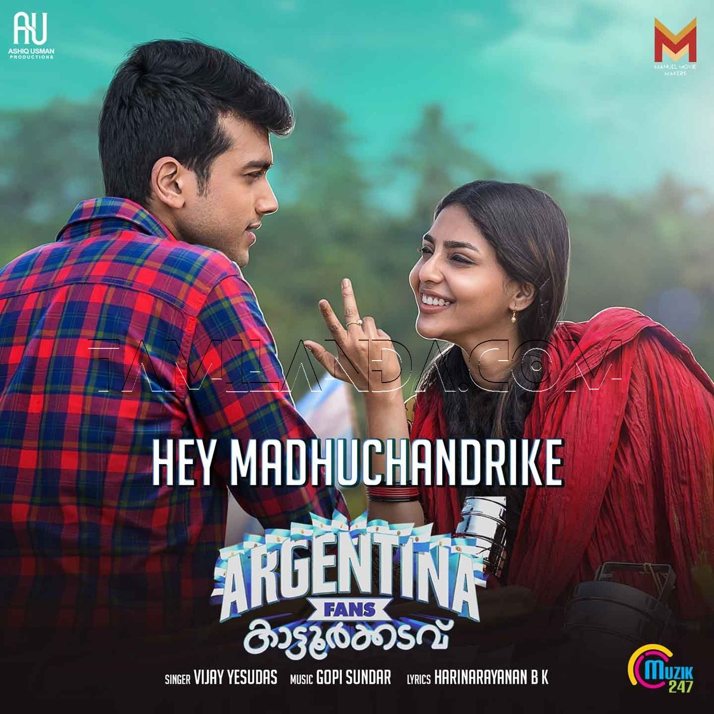 Hey Madhuchandrike (From Argentina Fans Kaattoorkadavu) – Single FLAC Song (2019)