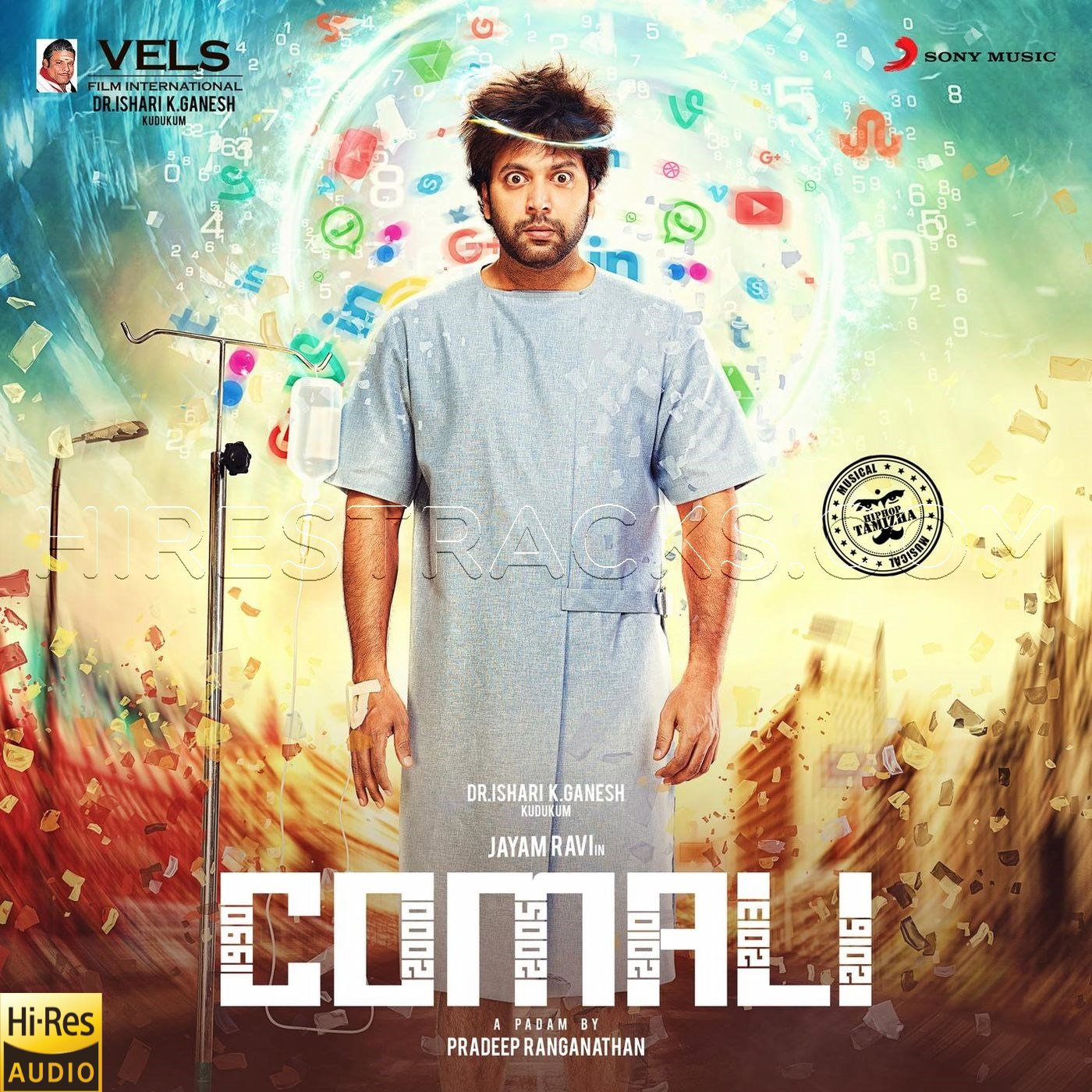 Comali (2019) (Hiphop Tamizha) (Sony Music) [24 BIT – 48 KHZ] [Digital-DL-FLAC]