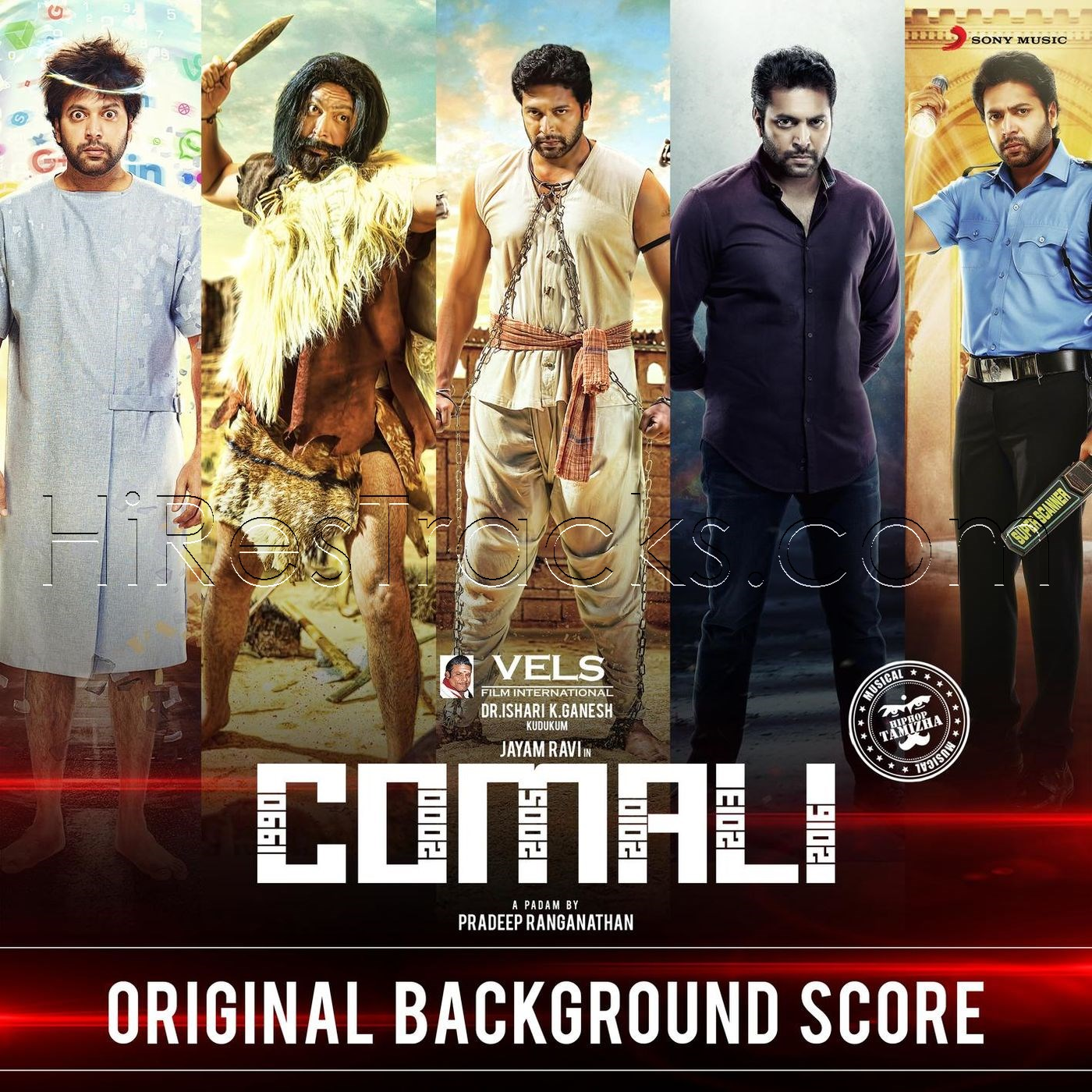 Comali (Original Background Score) (2019) (Hiphop Tamizha) (Sony Music) [Digital-RIP-FLAC]