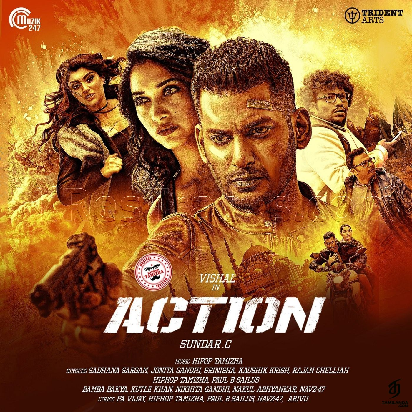 Action (2019) (Hiphop Tamizha) (Muzik247) [Digital-RIP-WAV]